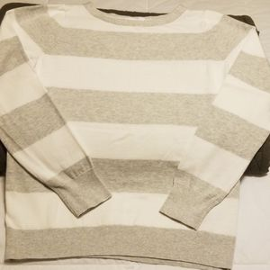 Gap Striped boatneck pullover sweater